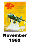 Model Airplane news cover for November of 1962