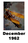 Model Airplane news cover for December of 1962