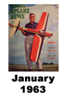 Model Airplane news cover for January of 1963