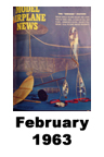 Model Airplane news cover for February of 1963