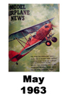 Model Airplane news cover for May of 1963