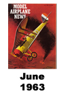 Model Airplane news cover for June of 1963