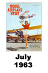 Model Airplane news cover for July of 1963