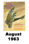 Model Airplane news cover for August of 1963