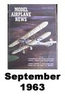 Model Airplane news cover for September of 1963