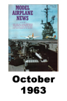 Model Airplane news cover for October of 1963