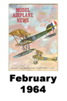 Model Airplane news cover for February of 1964
