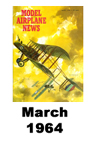 Model Airplane news cover for March of 1964