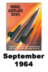 Model Airplane news cover for September of 1964