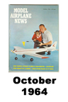 Model Airplane news cover for October of 1964