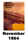 Model Airplane news cover for November of 1964