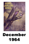 Model Airplane news cover for December of 1964