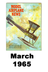 Model Airplane news cover for March of 1965
