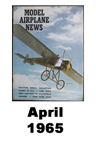 Model Airplane news cover for April of 1965