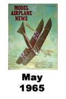 Model Airplane news cover for May of 1965