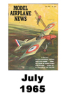 Model Airplane news cover for July of 1965