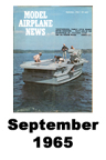 Model Airplane news cover for September of 1965