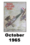 Model Airplane news cover for October of 1965