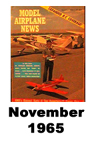 Model Airplane news cover for November of 1965