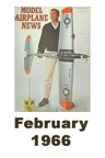 Model Airplane news cover for February of 1966
