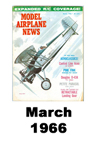 Model Airplane news cover for March of 1966