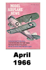 Model Airplane news cover for April of 1966