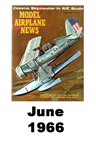 Model Airplane news cover for June of 1966