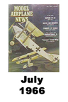 Model Airplane news cover for July of 1966
