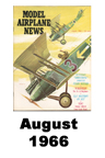 Model Airplane news cover for August of 1966
