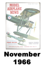 Model Airplane news cover for November of 1966