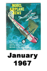Model Airplane news cover for January of 1967