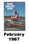 Model Airplane news cover for February of 1967