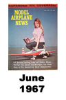 Model Airplane news cover for June of 1967