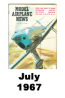 Model Airplane news cover for July of 1967