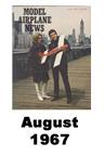Model Airplane news cover for August of 1967