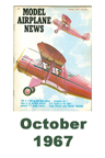 Model Airplane news cover for October of 1967