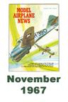 Model Airplane news cover for November of 1967