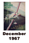 Model Airplane news cover for December of 1967