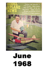 Model Airplane news cover for June of 1968