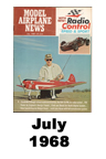Model Airplane news cover for July of 1968