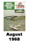 Model Airplane news cover for August of 1968