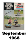 Model Airplane news cover for September of 1968
