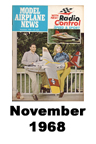 Model Airplane news cover for November of 1968