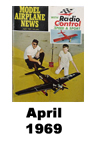 Model Airplane news cover for April of 1969