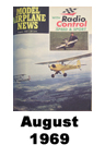 Model Airplane news cover for August of 1969