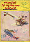 Model Airplane News Cover for April, 1931 by Jo Kotula Fokker D. VII and Sopwith Dolphin