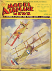 Model Airplane News Cover for April, 1932 by Jo Kotula Sopwith Triplane