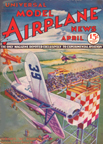Model Airplane News Cover for April, 1933 by Jo Kotula Benny Howard's Mike and Ike
