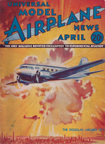 Model Airplane News Cover for April, 1934 by Jo Kotula Douglas DC-1 (and DC-2 and DC-3)