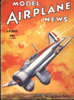 Model Airplane News Cover for April, 1935 by Jo Kotula Northrup XFT Fighter